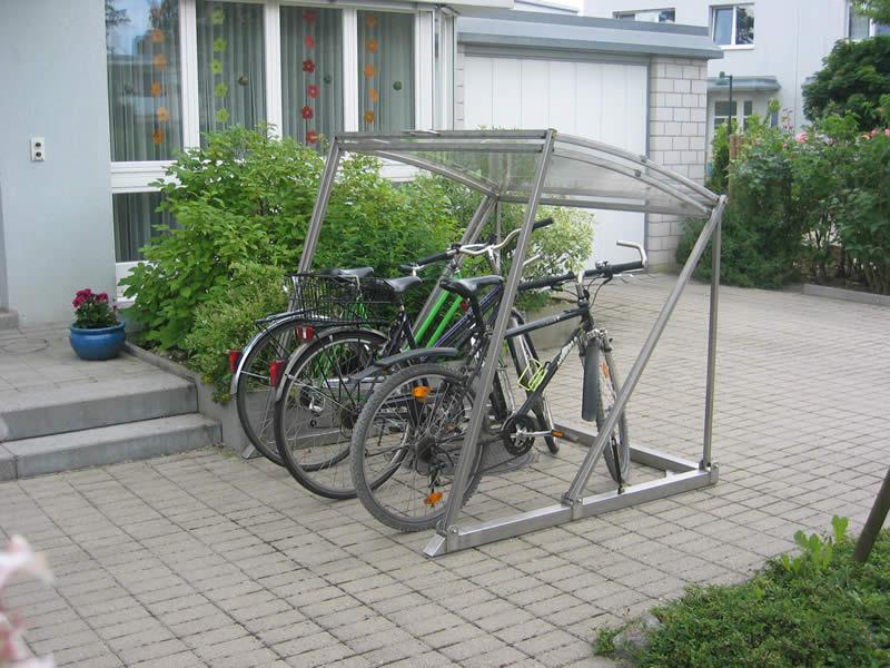 Unterstand fur fahrrader for Gartenhaus fur gerate